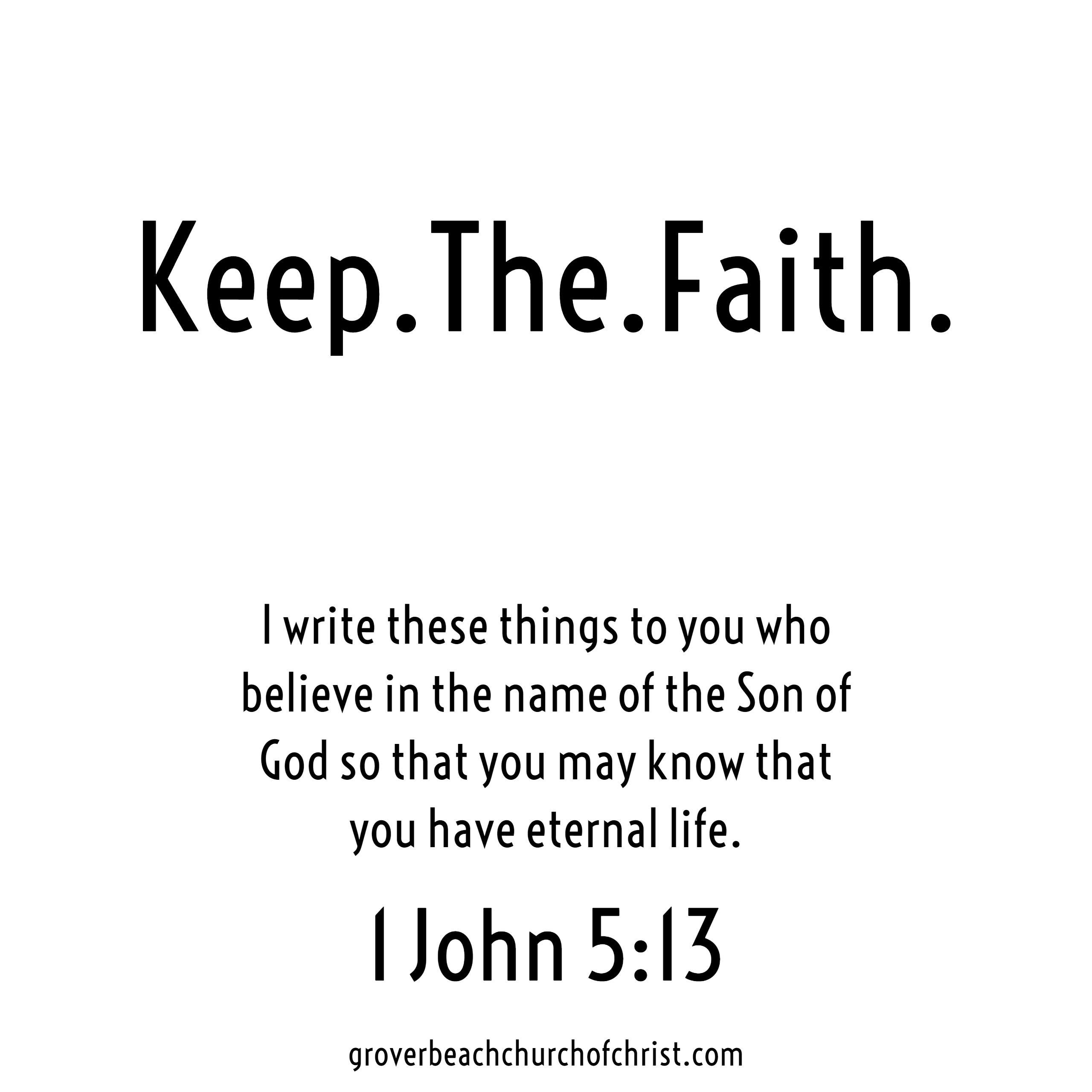 1 John 5-13 I write these things