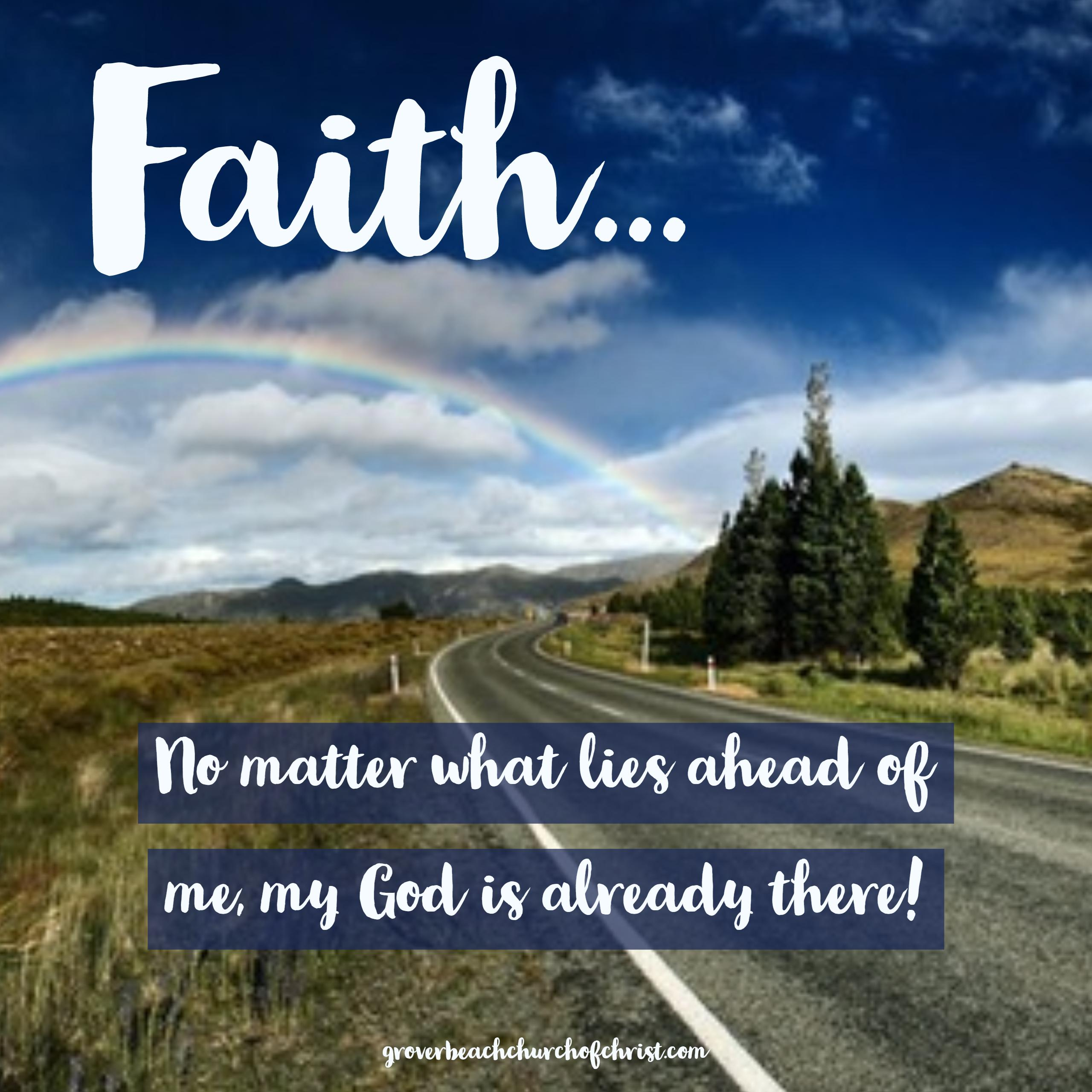 Faith no matter what lies