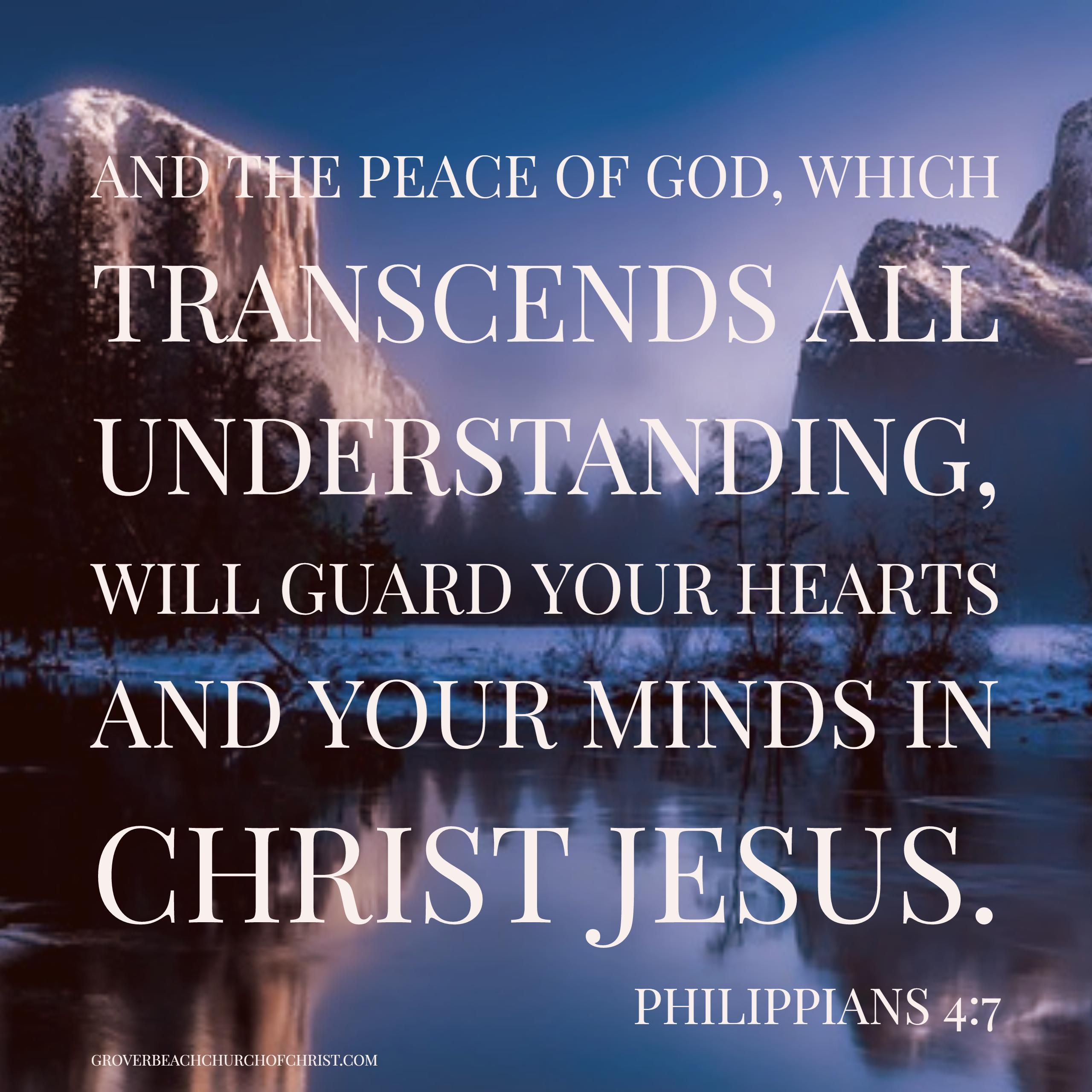 Philippians 4:17 And the peace of God
