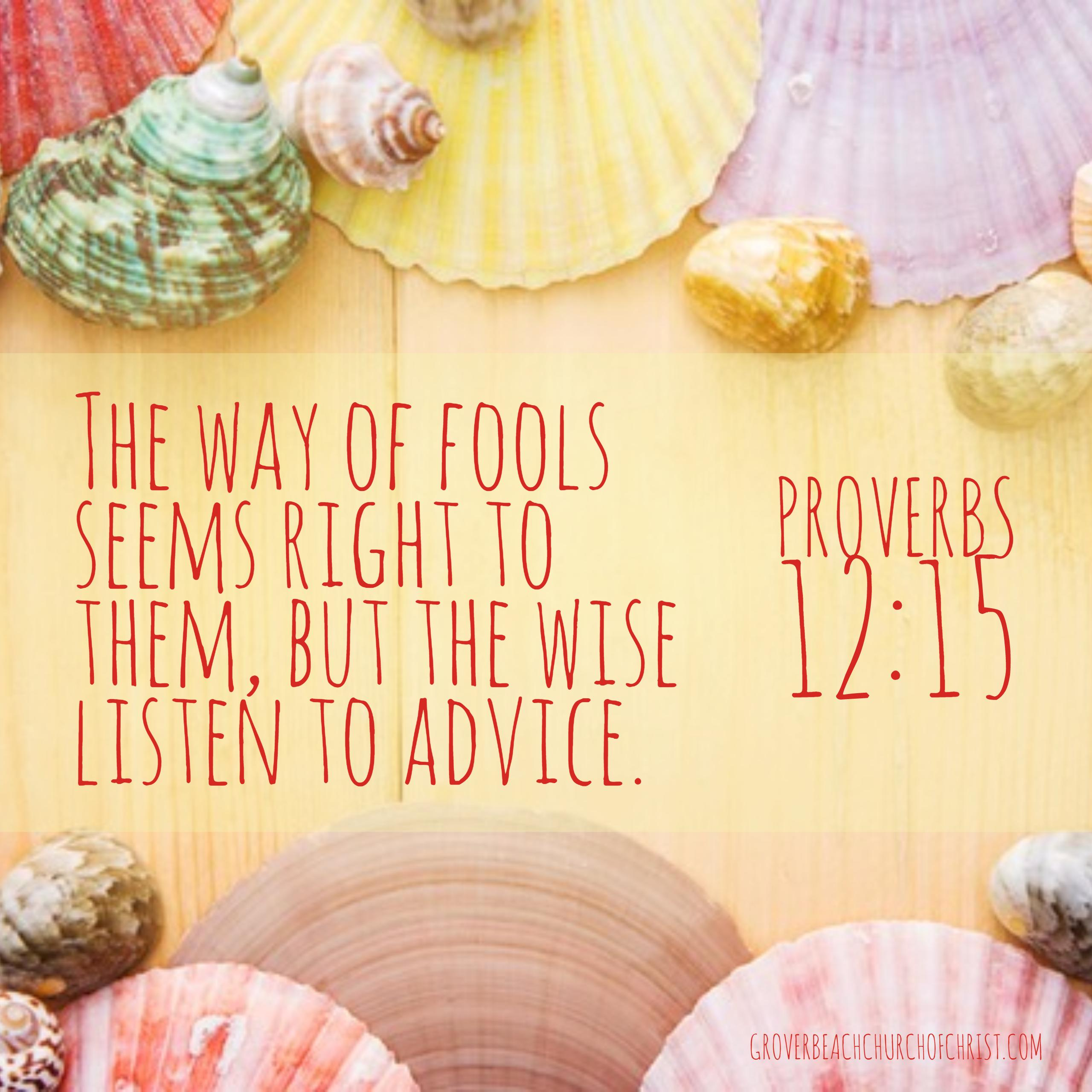 Proverbs 12-15 The way of fools