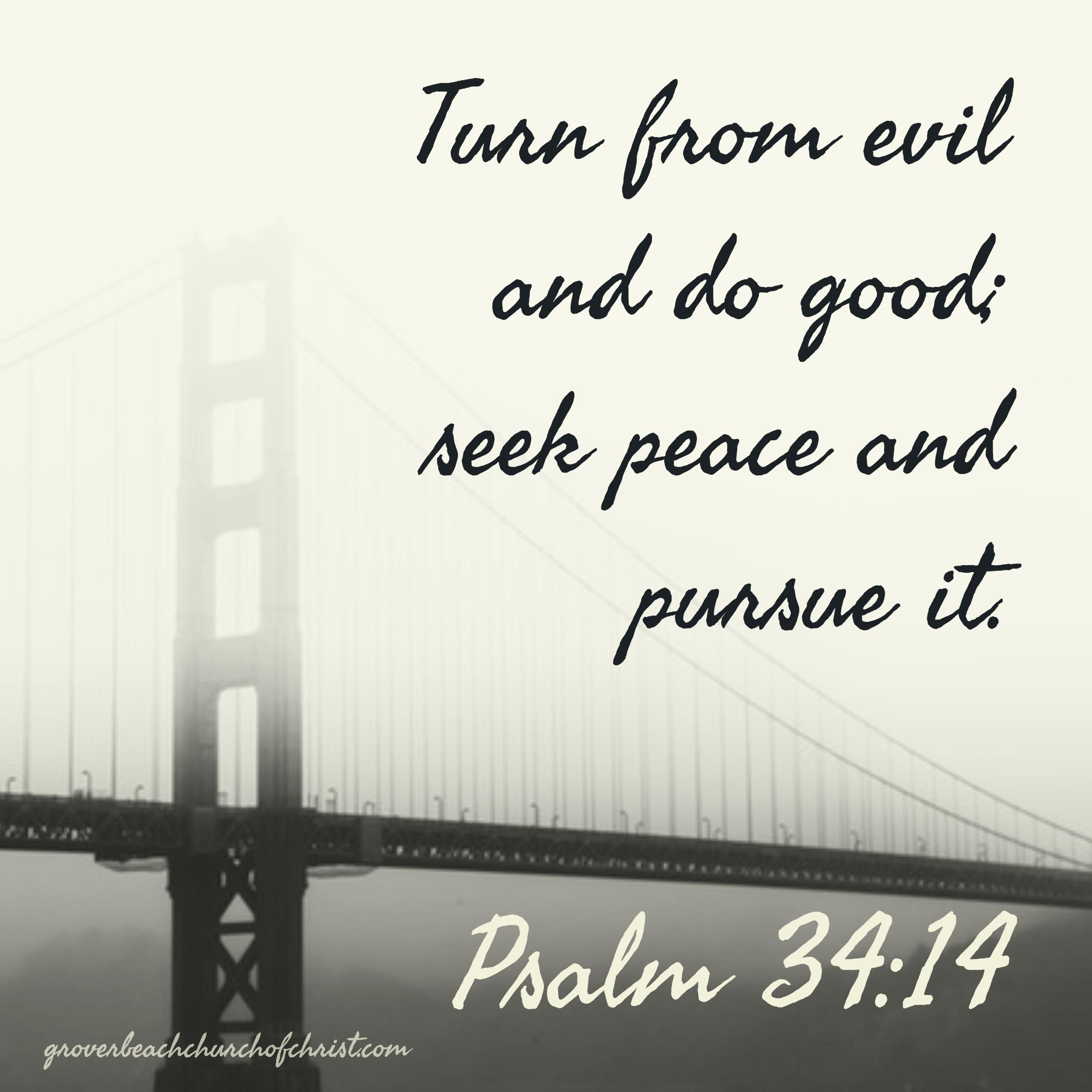 Psalm 34:14 Turn from evil and do good