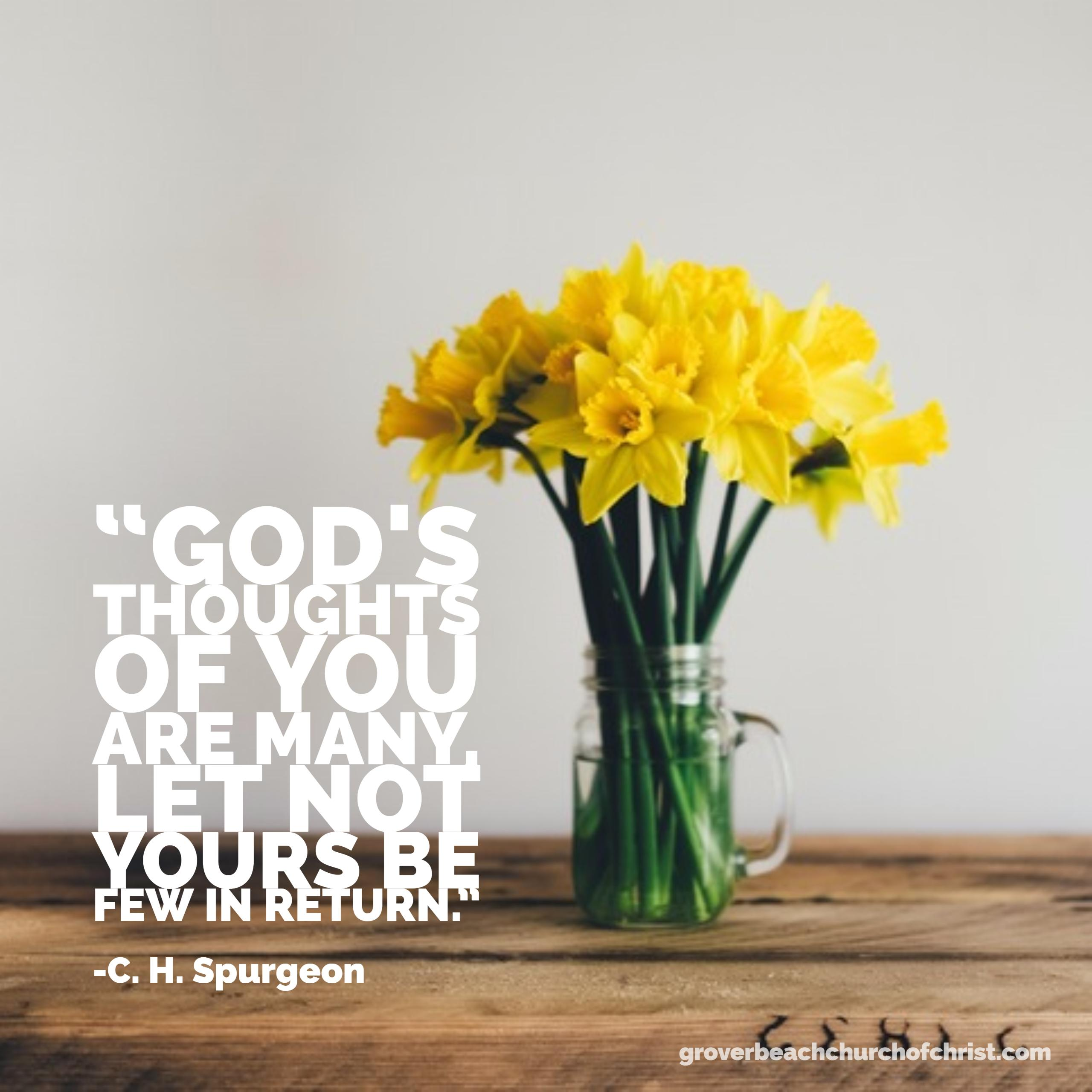 Spurgeon Gods thoughts of you