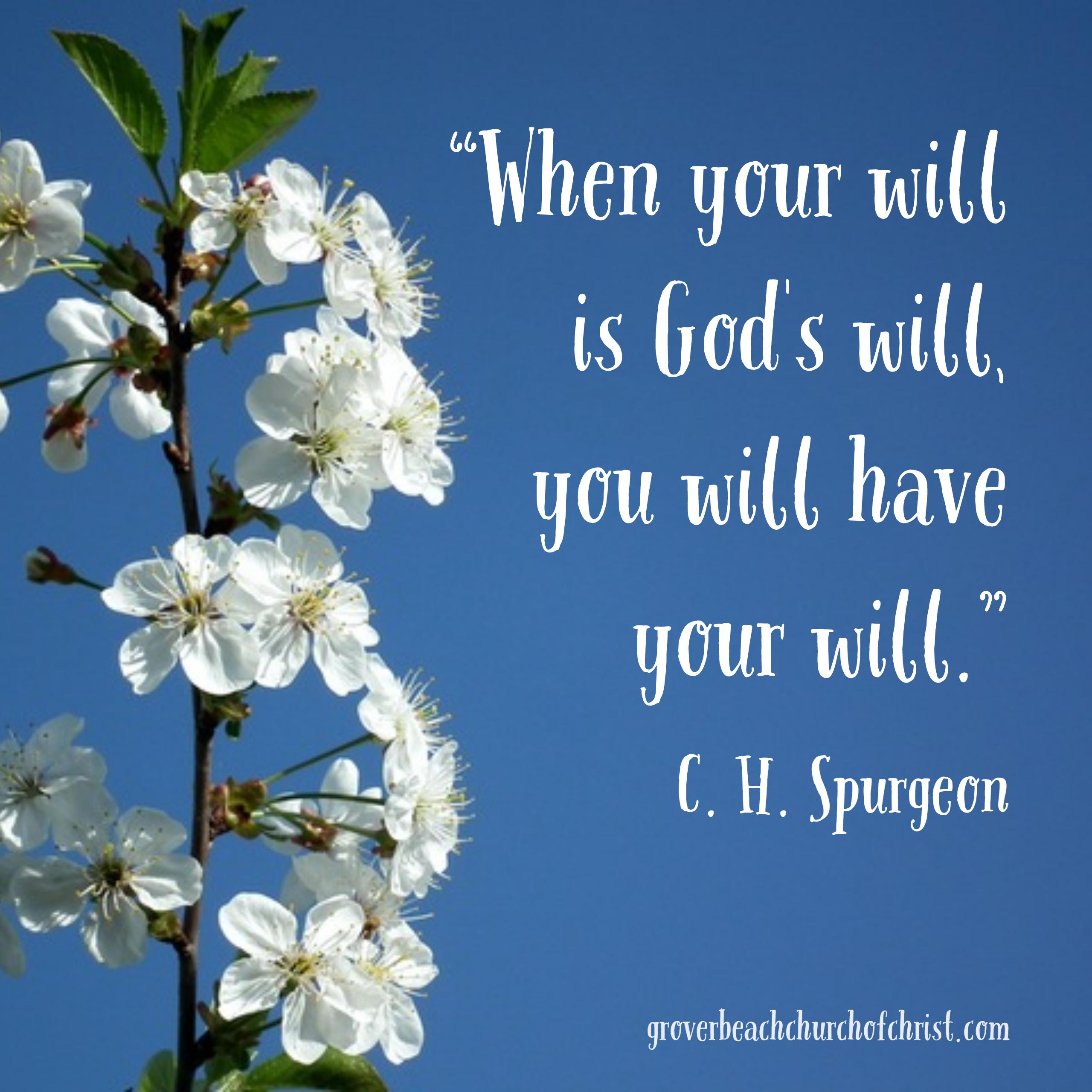 Spurgeon When your will is God's will